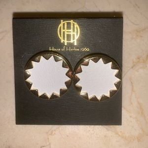 House of Harlow White Burst Earrings